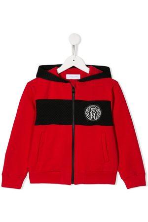 Roberto Cavalli Chest logo bomber jacket
