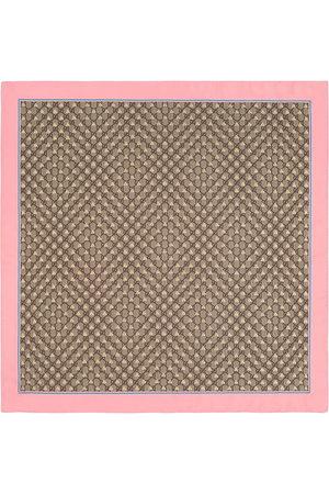 Gucci GG bees silk scarf - Neutrals