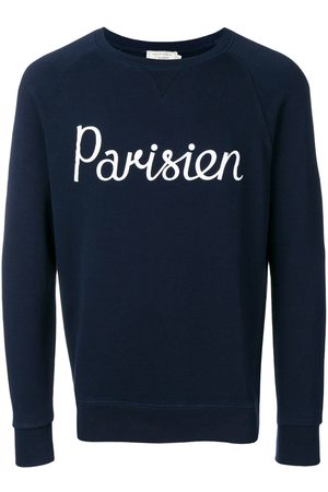 Maison Kitsuné Men Sweatshirts - Parisien print sweatshirt