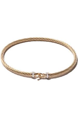 David Yurman 18kt yellow gold Cable Buckle pavé diamond bracelet - 88ADI