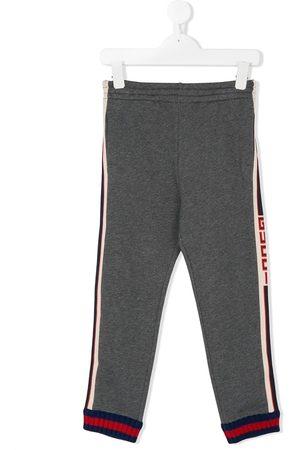 Gucci Logo stripe joggers - Grey