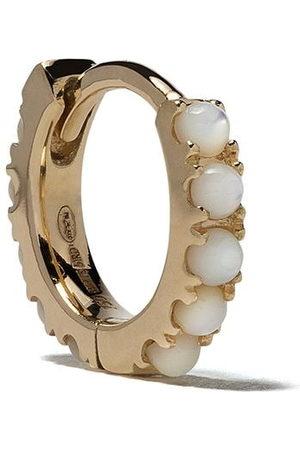 White Bird 18kt Ismène mother of pearl single hoop earring