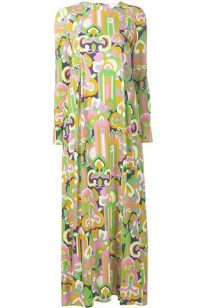 La DoubleJ Women Printed Dresses - Longsleeved printed maxi dress