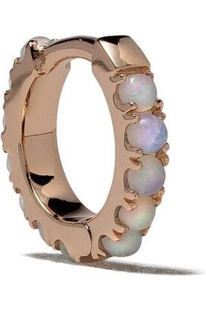 White Bird 18kt rose opal Ismène hoop single earring
