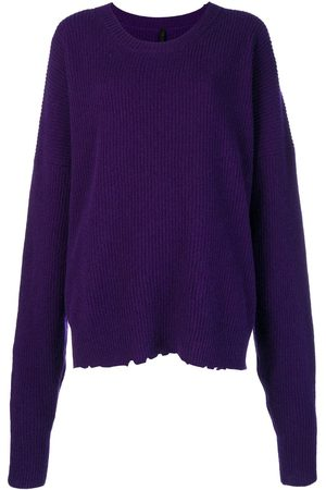 Unravel Project Women Sweaters - Oversized distressed crew-neck sweater