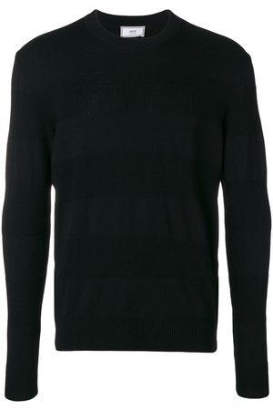 Ami Men Sweaters - Striped crew neck sweater
