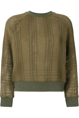Mr & Mrs Italy Patched tartan waffle knit sweatshirt