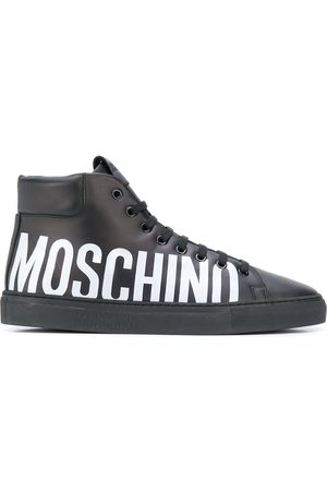 Moschino Logo print hi-top sneakers