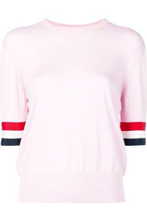 Thom Browne Women T-shirts - Rwb Cuff Fine Merino Tee