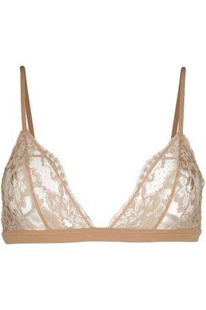 La Perla Souple lace triangle bra - Neutrals
