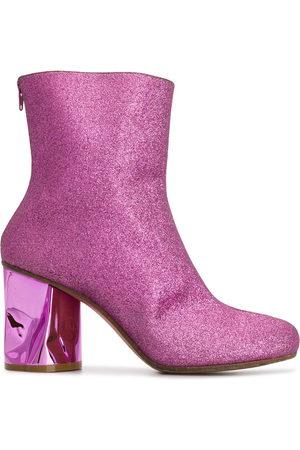 Maison Margiela Crushed heel glitter ankle boots