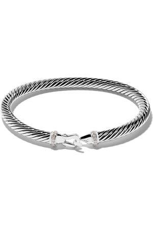 David Yurman Sterling silver Cable Collectibles diamond buckle bracelet - SSADI