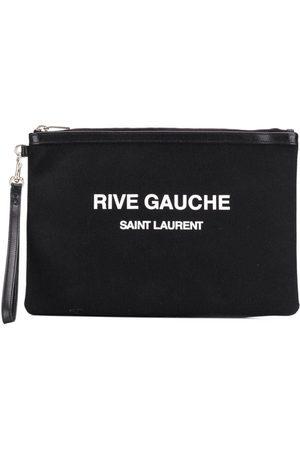 Saint Laurent Logo print pouch