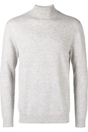 N.PEAL Men Turtlenecks - Turtleneck fitted sweater - Grey