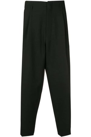 Ami Pleated cropped trousers