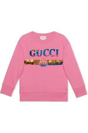 Gucci Sequin-embellished logo sweatshirt