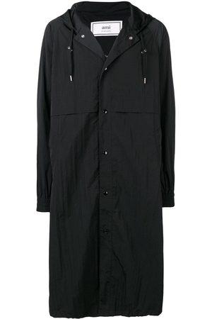 Ami Men Trench Coats - Long Hooded Windbreaker