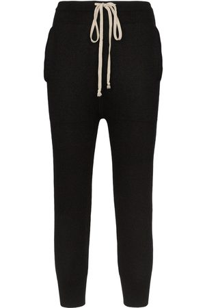 Rick Owens Women Tracksuits - Cropped cashmere joggers
