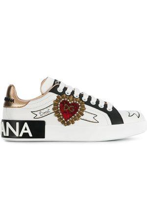 Dolce & Gabbana Portofino embroidered detail sneakers