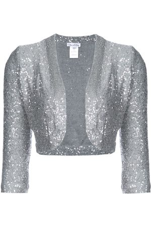 Oscar de la Renta Sequined 3/4 sleeve bolero - Metallic