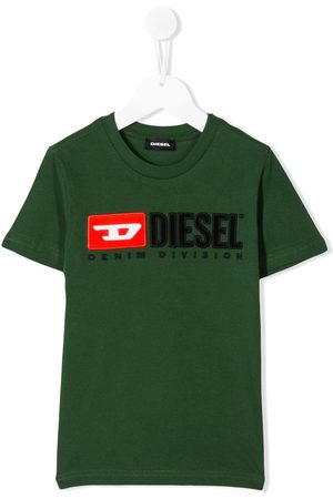 Diesel Boys T-shirts - Logo embroidered T-shirt