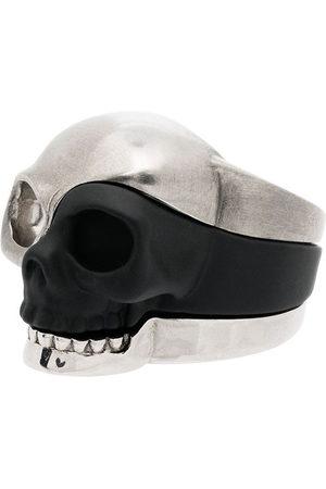 Alexander McQueen Three-piece Skull motif ring