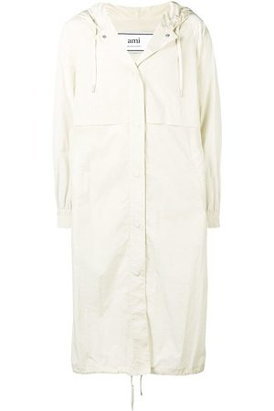 Ami Men Trench Coats - Long Hooded Windbreaker - NEUTRALS