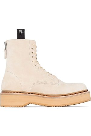 R13 Platform lace-up boots - Neutrals