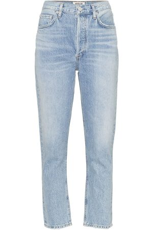 AGOLDE High-waisted cropped jeans