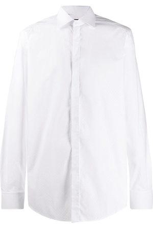 Dolce & Gabbana Men Long sleeves - Long-sleeved dotted shirt