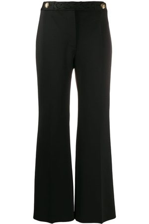Givenchy Women Wide Leg Pants - Braid cropped flared trousers