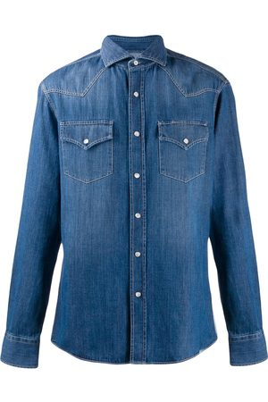 Brunello Cucinelli Men Denim - Denim shirt