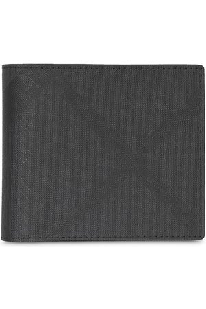 Burberry London Check and Leather International Bifold Wallet - Grey