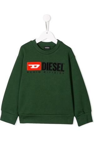 Diesel Boys Hoodies - Logo embroidered sweatshirt