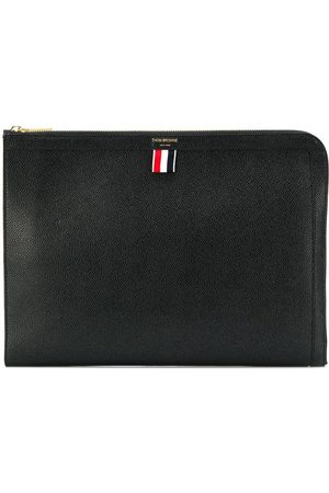 Thom Browne Pebbled document gusset folio