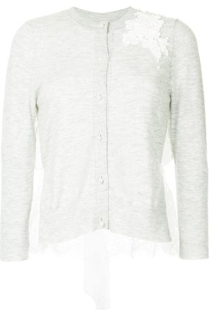 Onefifteen Women Cardigans - Floral lace patch buttoned cardigan - Grey