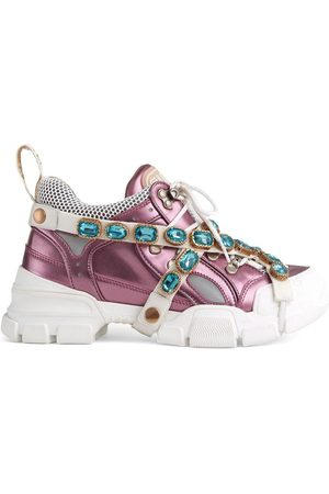 Gucci Women Sneakers - Flashtrek sneakers with removable crystals