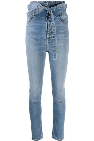Unravel Project Women High Waisted - Ultra-high waisted skinny jeans