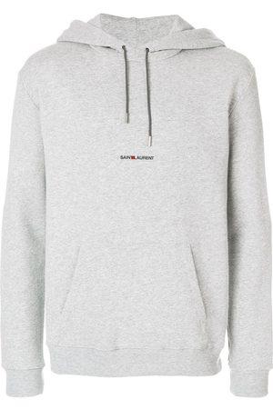 Saint Laurent Logo-print hoodie - Grey