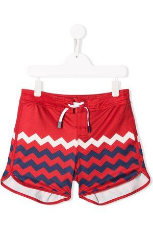 Perfect Moment Boys Swim Shorts - Zigzag print board shorts