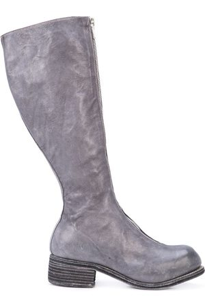 GUIDI Front zip knee-high boots - Grey