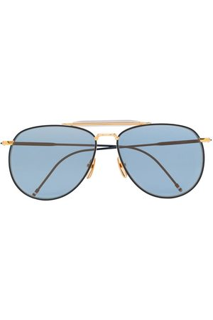 Thom Browne 907 aviator sunglasses - Metallic