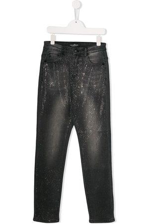 John Richmond Junior Slim - TEEN embellished slim-fit jeans - Grey