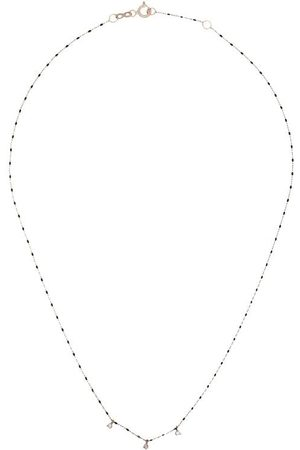 GIGI CLOZEAU 18kt bead triple-diamond necklace