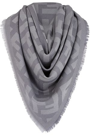 Fendi FF motif shawl - Grey