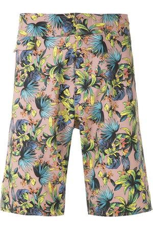 AMIR SLAMA Men Swim Shorts - Printed swim shorts - Neutrals