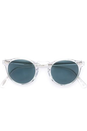 Oliver Peoples Gregory Peck round frame sunglasses - Neutrals