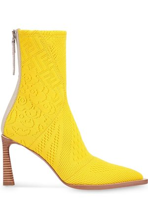Fendi FFrame jacquard pointed-toe ankle boots