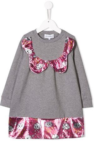 Simonetta Girls Casual Dresses - Cloud panelled jumper dress - Grey