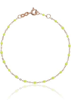GIGI CLOZEAU Women Bracelets - 18kt rose gold Classic Gigi lime green beaded bracelet